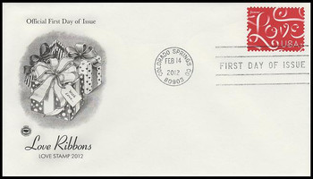 4626 / 45c Love Ribbons PCS 2012 FDC