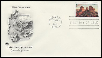 4627 / 45c Arizona Statehood Centennial 2012 PCS FDC