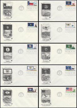 4323 - 4332 / 45c Flags Of Our Nation Set of 10 PCS 2012 FDCs