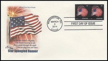4868 / 49c Star - Spangled Banner : SSP Coil Pair 2014 Artcraft FDC