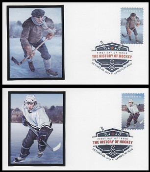 5252 - 5253 / 49c History Of Ice Hockey Set of 2 Digital Color Postmark FDCO Exclusive 2017 FDCs