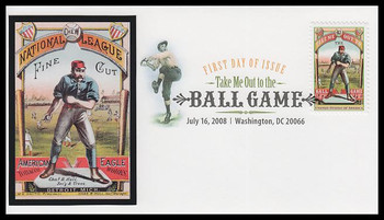 4341 / 42c Take Me Out To The Ball Game Digital Color Postmark FDCO Exclusive 2008 FDC