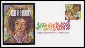 4880 / 49c Jimi Hendrix : Rock Guitarist : Singer : Songwriter 2014 Digital Color Postmark FDCO Exclusive FDC