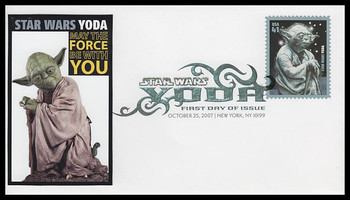 4205 / 41c Yoda : Star Wars Digital Color Postmark 2007 FDCO Exclusive FDC