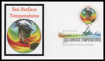 4893 / $1.15 Sea Surface Temperatures Global Forever Digital Color Postmark 2014 FDCO Exclusive FDC