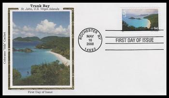 C145 / 94c St. John - U.S. Virgin Islands : Airmail Colorano Silk 2008 First Day Cover
