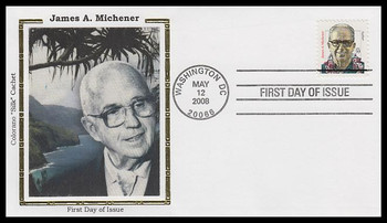 3427a / 59c James A. Michener : Distinguished Americans Series Colorano Silk 2008 FDC
