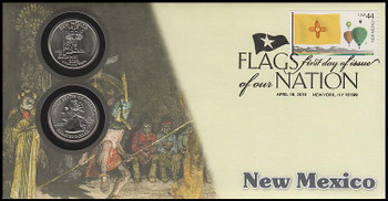 4309 / 42c Flags Of Our Nation : New Mexico State Quarter Coin Fleetwood 2010 First Day Cover