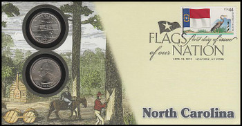 4311 / 42c Flags Of Our Nation : North Carolina State Quarter Coin Fleetwood 2010 First Day Cover