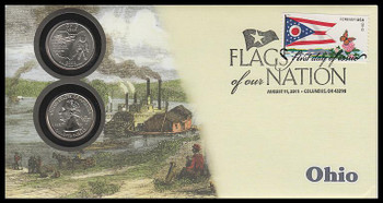 4314 / 42c Flags Of Our Nation : Ohio State Quarter Coin Fleetwood 2011 First Day Cover