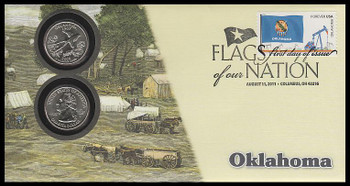 4315 / 42c Flags Of Our Nation : Oklahoma State Quarter Coin Fleetwood 2011 First Day Cover