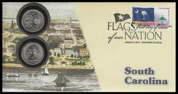 4320 / 42c Flags Of Our Nation : South Carolina State Quarter Coin Fleetwood 2011 First Day Cover