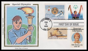3771 / 80c Special Olympics Combo 2003 Colorano Silk First Day Cover
