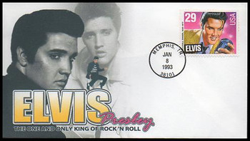 2721 / 29c Elvis Presley 1993 Therome Cachets FDC #1