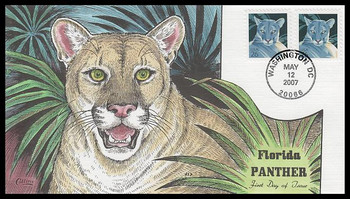 4137 / 26c Florida Panther 2007 Collins Hand-Painted FDC