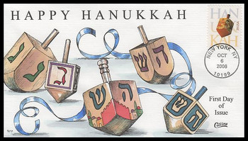 4118 / 39c Hanukkah : Holiday Celebration Series 2006 Collins Hand-Painted FDC