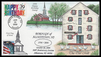4079 / 39c Happy Birthday 2006 Collins Hand-Painted FDC