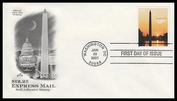 3473 / $12.25 Washington Monument Express Mail 2001 Artcraft FDC