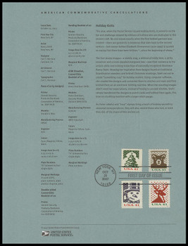 4207, 4209, 4212, 4214 / 41c Holiday Knits 2007 USPS Souvenir Page #0743