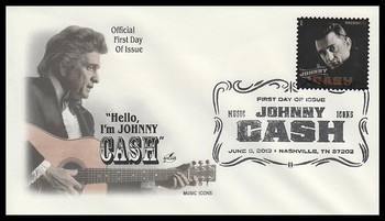 4789 / 46c Johnny Cash : Music Icons Series 2013 Artcraft First Day Cover