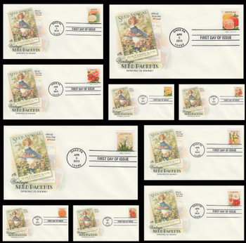 4754 - 4763 / 46c Vintage Seed Packets Set of 10 Artcraft 2013 First Day Covers