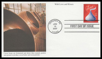4122 / 39c Love : Hershey's Kiss 2007 Mystic First Day Cover