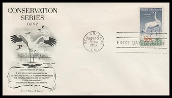 1098 / 3c Wildlife Conservation Fleetwood 1957 FDC