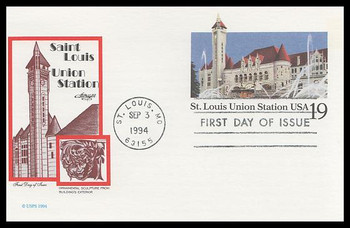 UX177 / 19c St. Louis Union Station: Historic Preservation Series 1994 Artmaster FDC Postal Card