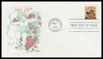 2949 / Love : Cherub 32c Non - Denominated Self - Adhesive Issue / Love Stamp 1995 Aertmaster FDC