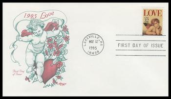 2957 / 32c Love Cherub : Love Series Artmaster 1995 First Day Cover