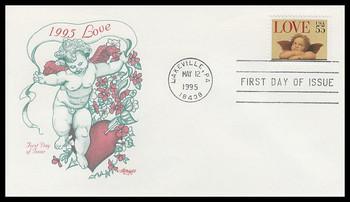 2958 / 55c Love : Cherub Sheet Issue : Love Stamp Series 1995 Artmaster FDC