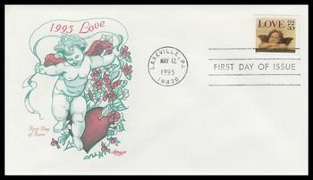 2960 / 55c Love : Cherub Self - Adhesive Issue : Love Stamp Series 1995 Artmaster FDC