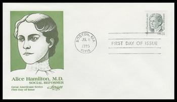 2940 /  55c Alice Hamilton, MD : Great Americans Series Artmaster 1995 FDC