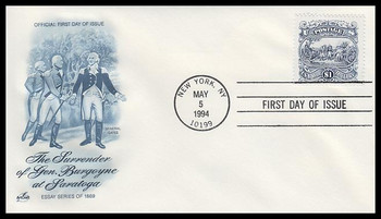 2590 / $1 Surrender of Burgoyne Artcraft 1994 First Day Cover