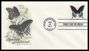 4736 / 66c Spicebush Swallowtail Butterfly : Butterfly Series 2013 Artcraft FDC