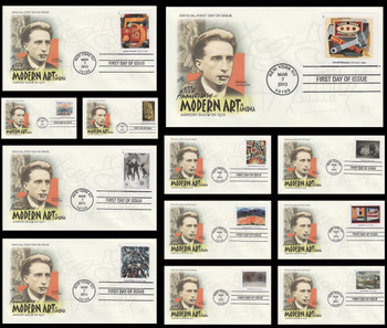 4748a - l / 46c Modern Art in America Set of 12 Artcraft 2013 First Day Covers