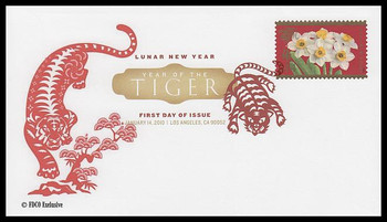 4435 / 44c Year of the Tiger : Chinese Lunar New Year Digital Color Postmark 2010 FDCO Exclusive FDC