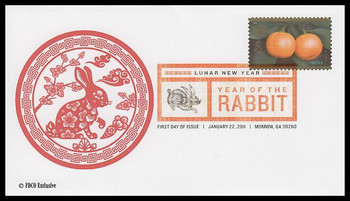 4492 / 44c Year of the Rabbit : Chinese Lunar New Year Digital Color Postmark 2010 FDCO Exclusive FDC