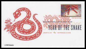 4726 / 45c Year of the Snake : Chinese Lunar New Year Digital Color Postmark 2013 FDCO Exclusive FDC