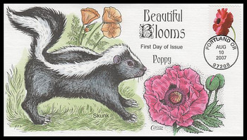 4183 / 41c Poppy 2007 Collins Hand-Painted FDC
