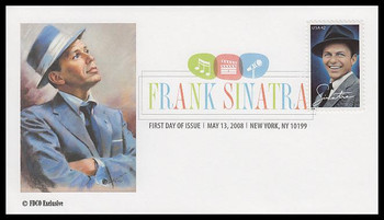4265 / 42c Frank Sinatra : New York, NY Postmark Digital Color Postmark 2008 FDCO Exclusive FDC