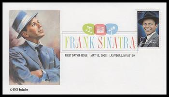 4265 / 42c Frank Sinatra : Las Vegas, NV Postmark Digital Color Postmark 2008 FDCO Exclusive FDC