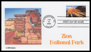 C146 / 79c Zion National Park Airmail 2009 FDCO Exclusive FDC