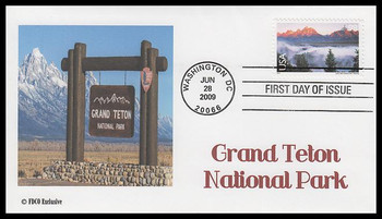 C147 / 98c Grand Teton National Park Airmail 2009 FDCO Exclusive FDC