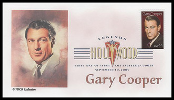 4441 / 44c Gary Cooper : Legends of Hollywood Digital Color Postmark 2007 FDCO Exclusive FDC