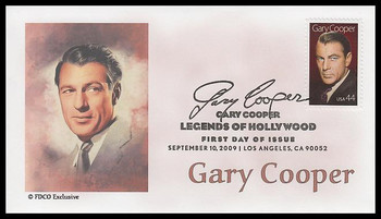 4441 / 44c Gary Cooper : Legends of Hollywood 2009 FDCO Exclusive FDC