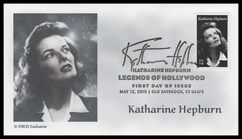 4461 / 44c Katharine Hepburn : Legends of Hollywood 2009 FDCO Exclusive FDC