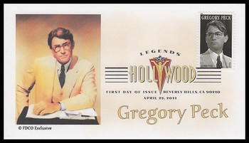 4526 / 44c Gregory Peck : Legends of Hollywood Digital Color Postmark 2007 FDCO Exclusive FDC