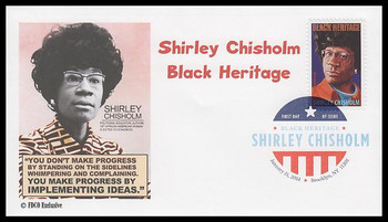 4856 / 49c Shirley Chisholm : Black Heritage Series Digital Color Postmark 2014 FDCO Exclusive FDC