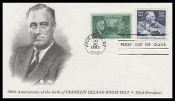 1950 / 20c Franklin D. Roosevelt Combo 1982 K.M.C. Venture FDC